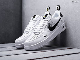 Белые низкие мужские кроссовки Nike Air Force 1 LV8 Найк аир форс / кросівки (ТОП реплика ААА+)