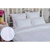 Комплект постельного белья Руно полуторный белый сатин страйп арт.1.50ДУ_3х3