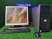 """Комплект Dell optiplex 4 ядра , 4 Гб ОЗУ, 320 Гб+ Монитор 19"""" ( клавиатура и мышка в подарок)"""