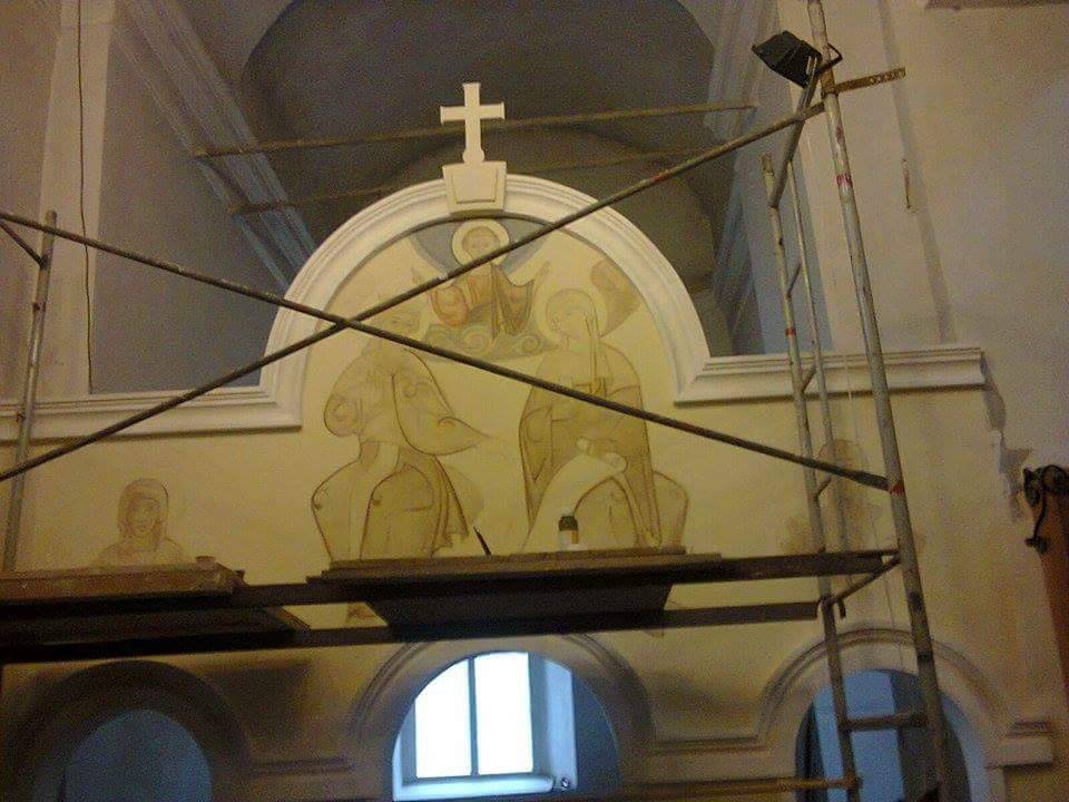 Декоративные элементы внутренней отделки храма в г. Прилуки