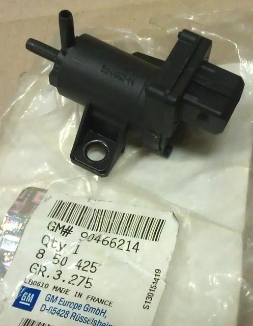 Клапан вакумный управляющий (вторичной воздушной системой) устройством холодного пуска двигателя GM 0850425 90466214 OPEL Astra-F Vectra-A Vectra-B