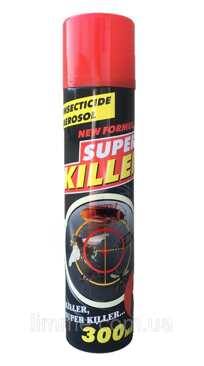 Універсальний засіб від комах і тараканів Super Killer 300 мл.