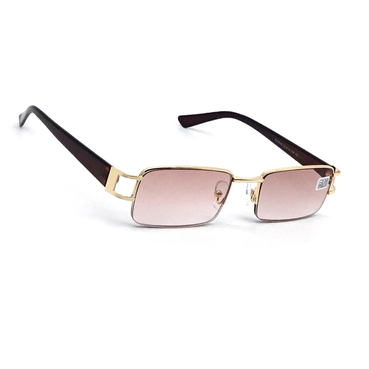 Универсальные полуоправные очки с тонированной линзой