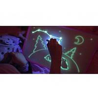 Рисуй Светом Доска A4 для рисования светом в темноте. Планшет Набор Для Рисования в темноте