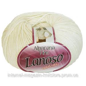 Пряжа Lanoso Alpacana Fine Белый