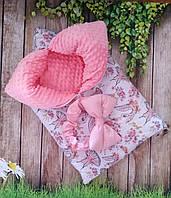 Теплый конверт-спальник-плед  для новорожденных осень-зима-весна