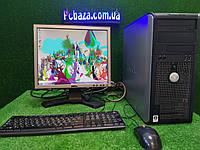 """Комплект Dell optiplex 745 intel  2 ядра, 2 ГБ ОЗУ, 80 Гб+  Монитор 17"""" ( клавиатура и мышка в подарок)"""