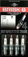 Свеча зажигания ВАЗ 2101-2107 (к-кт 4шт) Super L15YC блистер BRISK. L15YC (0001)