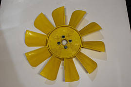 Крыльчатка радиатора ГАЗ 3302 (10 лопасти) (желтая) Украина