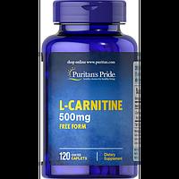 Puritan`s pride Жиросжигатель Puritan's Pride L-Carnitine 500 mg, 120 таб.