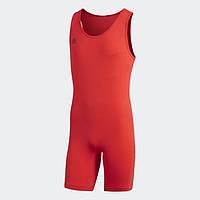 Костюм для тяжелой атлетики унисекс PowerLiftSuit Adidas красного цвета., фото 1