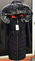 Зимняя курточка куртка парка Грация с мехом. Цвет Черный.