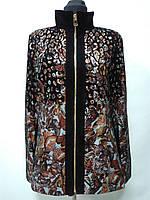 Куртка из натуральной кожи в золотом лазере ворот стойка длина 65см 50р 52р 54р ОГ-104,108 ОБ-108,112
