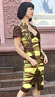 Блуза женская Balizza яркая на молнии короткий рукав нарядная