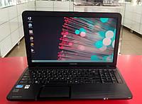 "Ноутбук Toshiba C850 15.6"" Intel Core i3 2.2 GHz 8 GB RAM 250 GB HDD Black Б/У"