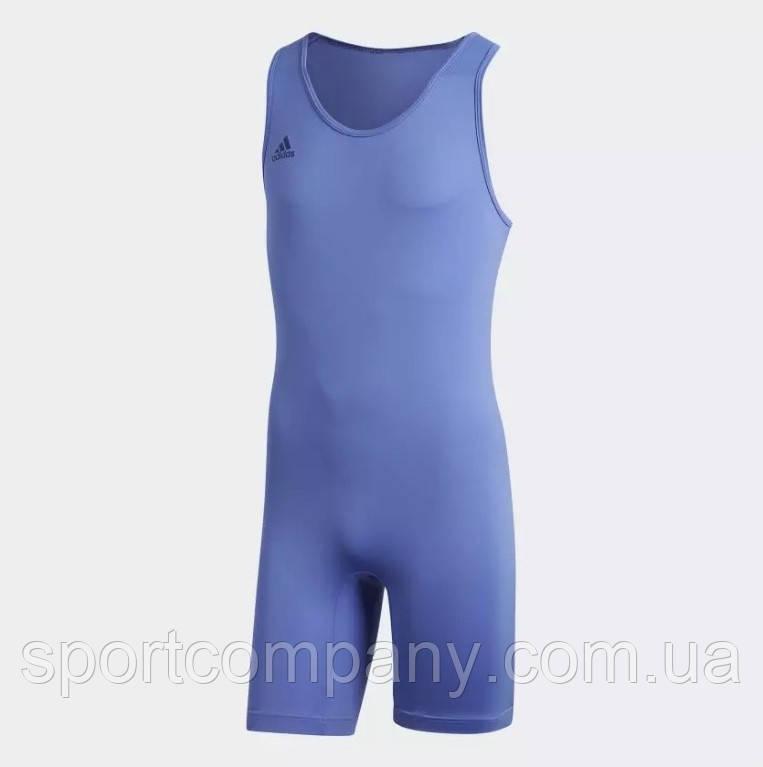 Костюм для тяжелой атлетики унисекс PowerLiftSuit Adidas синего цвета.