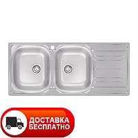 Двойная кухонная мойка Apell Oceano OH1162IRPC RIGHT Matt 116*50