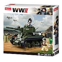 Конструктор Sluban M38-B0686 Танк BT-7 Армия 347 дет
