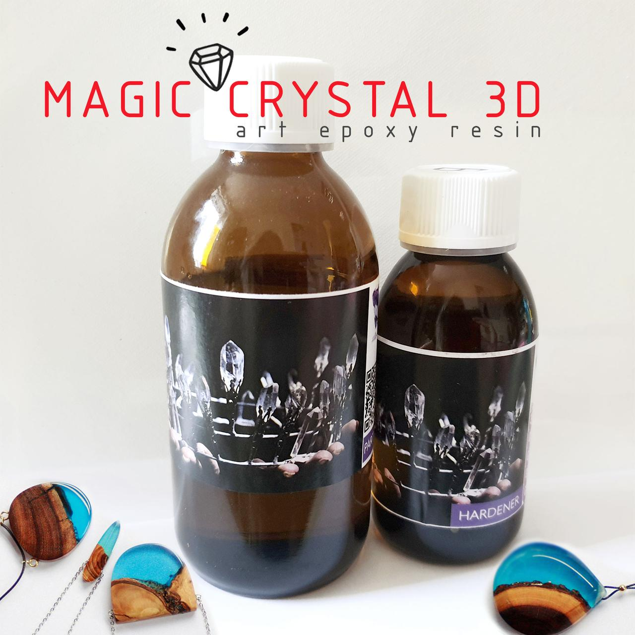 Прозрачная эпоксидная смола Magic Crystal 3D Меджик Кристал для украшений и декора (пробник уп. 305 г)