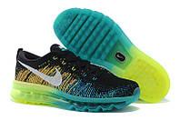 Мужские кроссовки Nike Air Max 2014 Flyknit Black Turbo Green Volt