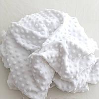 Плюш Минки (minky) Белые пупырышки
