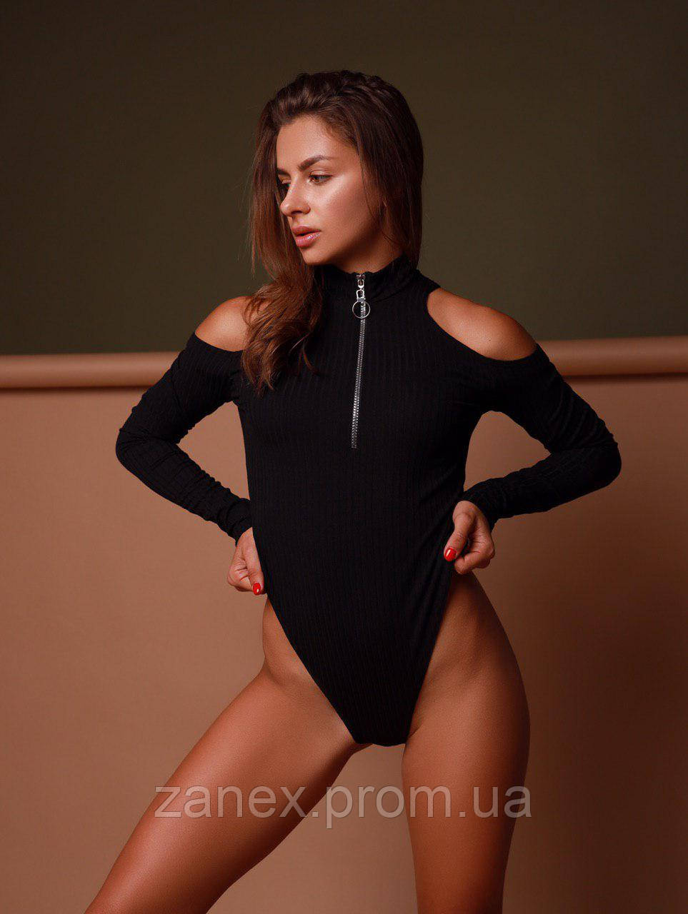 Женское боди черное Zanex «Бокс»