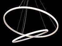 Светодиодная подвесная люстра с регулируемой высотой белая A9079-60*40, фото 1