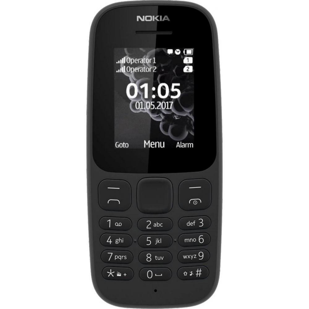 Nokia 105 Single Sim New A00028356 Black