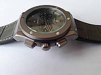 Механические часы в стиле HUBLOT - Automatic с автозаводом, сапфировое стекло, AAA,серый циферблат с черным ремешком, PU