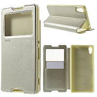 Чехол книжка Roar Korea Noble Window для Sony Xperia Z3+ DS E6533 золотой