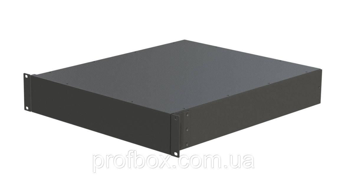 Корпус металевий Rack 2U, модель MB-2520SP (Ш483(432) Г252 В88) чорний, RAL9005(Black textured)