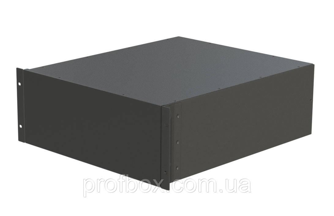 Корпус металевий Rack 4U, модель MB-4520SP (Ш483(432) Г522 В176) чорний, RAL9005(Black textured)