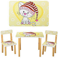 Детский столик со стульчиком Pontik  деревянный (501-17)