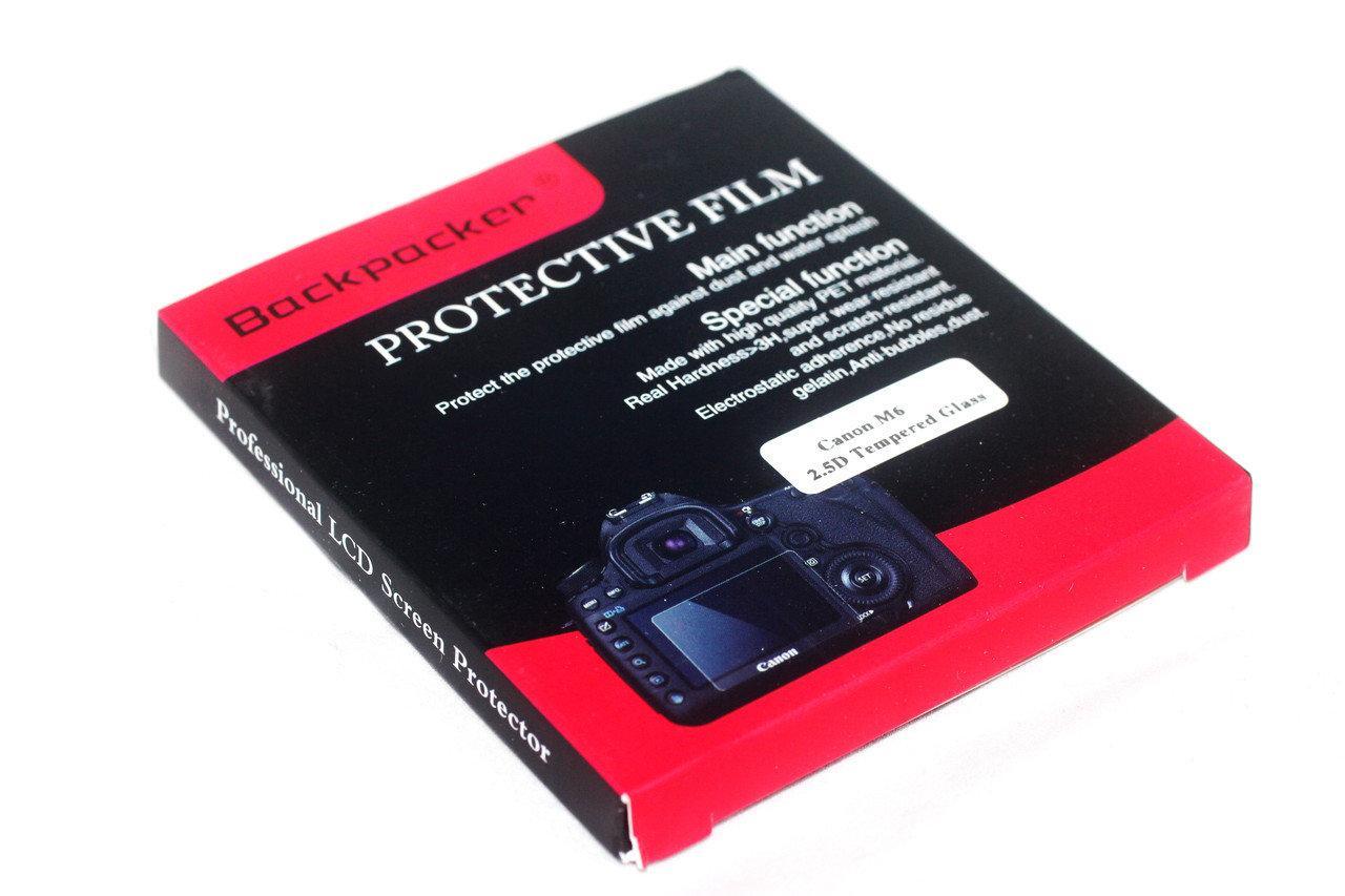 Защитное стекло Backpacker для LCD экрана фотоаппаратов Canon EOS  M6, EOS M100 / в магазине