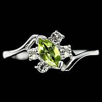 Серебряное кольцо с хризолитом, 1224КХ