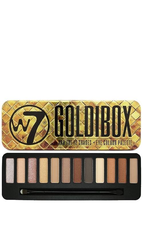 W7 And The 12 shades Eye Colour Palette Палетка теней Goldibox 15 мл код 25293