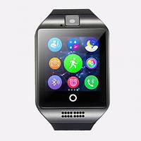 Смарт часы умные часы MHZ Smart Watch GSM Camera Q18 Black (007240)