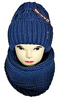 М 5098 Комплект женский шапка и баф , разные цвета