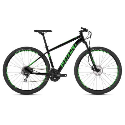 """Горный велосипед Ghost Kato 2.9 29"""" , рама M, черно-зеленый, 2019 (ST)"""