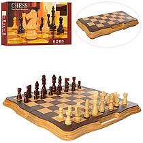 Шахи дерев'яні, дошка, фігури, в коробці 40,5-20,5-5,5 см