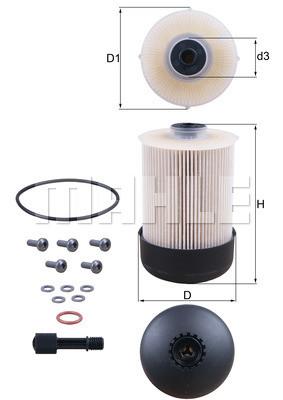 Фильтр топливный Mahle OPEL MOVANO-B 2.3 CDTI, VIVARO 1.6 CDTI, RENAULT MASTER III 2.3 DCI  Украина Харьков