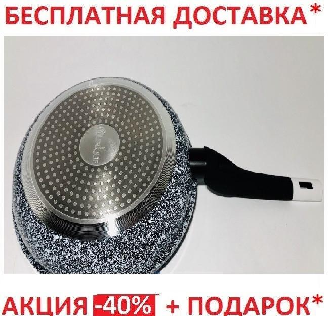 Сковорода с крышкой Unique UN-5115 (24 см), фото 1