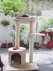 Игровой комплекс для котов Natural House XS с плетеным домиком из водного гиацинта, фото 3