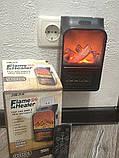 Портативний обігрівач Flame Heater New 900W з імітацією каміна, LCD-дисплеєм і пультом, фото 4