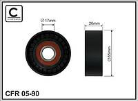 АНАЛОГ для Opel 636166 0636166 GM 55574238 Ролик натяжной приводного ремня без натяжного механизма 05-98 - CAFFARO E2F5899BTA 03-358 - DEXWAL Bta
