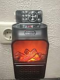 Портативний обігрівач Flame Heater New 900W з імітацією каміна, LCD-дисплеєм і пультом, фото 3