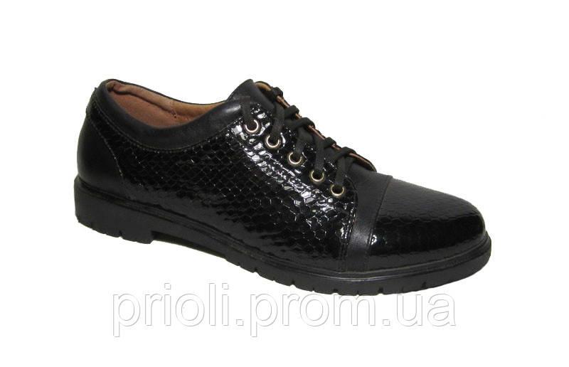 Женские туфли на низком ходу оптом кожа