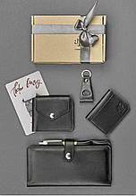 """Подарочный набор кожаных аксессуаров для путешественника """"Дублин"""": тревел-кейс, портмоне, кард-кейс и брелок"""