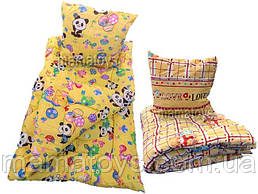 Одеяло и подушка теплое Детское. Силикон синтепон 150х110 см