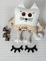 Именная игрушка котик с метрикой